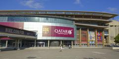 World famous stadium of FC Barcelona - Camp Nou Stock Photos