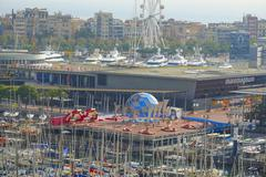Maremagnum shopping mall at Port Vell Barcelona Stock Photos