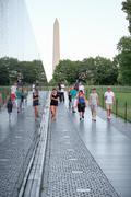 Visitors at the Vietnam Veterans Memorial in Washington D.C. Kuvituskuvat