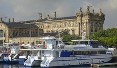 Modern Port Vell area in Barcelona Stock Photos