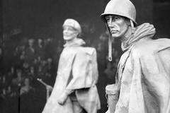 The Korean War Veterans Memorial in Washington D.C. Kuvituskuvat