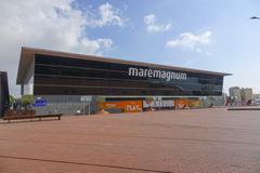 The Maremagnum shopping and dining mall in Barcelona Stock Photos