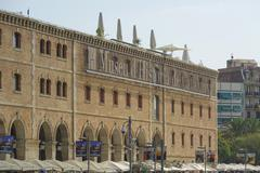 History Museum in Barcelona called Museu Historia de Catalunya Stock Photos