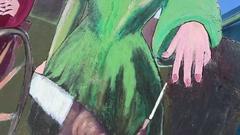 Sleeping Beauty Painting Stock Footage