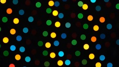 Abstract defocused colorful blinking lights. Christmas and New Year garland on a Stock Footage