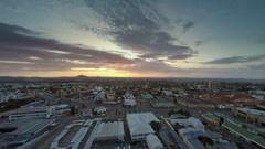 Windhoek Namibia city sunset time lapse Stock Footage