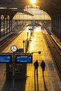 Lubeck Hauptbahnhof railway station, Germany Stock Photos