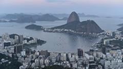 Rio de Janeiro Sunset Timelapse Stock Footage