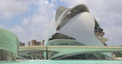 Reina (Queen) Sofia Palace of Arts of City of Arts and Sciences In Valencia Stock Footage