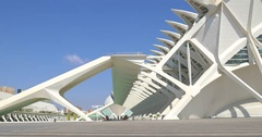 Prince Philip Science Museum of City of Arts and Sciences In Valencia Stock Footage