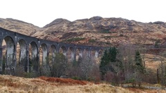 The famous Glenfinnan Viaduct Stock Footage