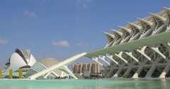 VALENCIA, SPAIN - Calatrava City Of Arts And Sciences In Downtown Stock Footage