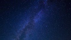 Astro Timelapse of Galaxy over Symmetric Radio Observatories -Sky Only- Stock Footage