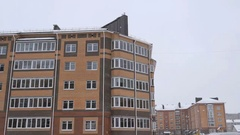 High-rise residential buildings in snowy weather Stock Footage