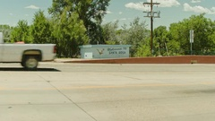 Welcome to Santa Rosa NM Sign Wide Stock Footage