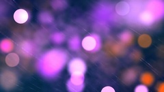 Red blue circle bokeh lights and sparkles loop Stock Footage