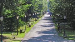 Zagreb Maksimir park Stock Footage