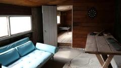 Interior Riley's Cabin Camp - Mojave Desert California Stock Footage