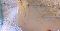 Dreamland beach.Tourists. Aerial view. Bali indonesia Stock Footage