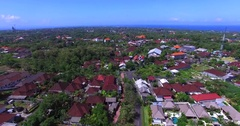 Bukit residential area, aerial and top view. Green gardens. Bali Indonesia Stock Footage