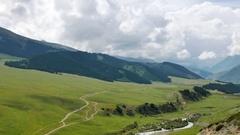 Valley View. Chon Ak-Suu. Grigoriev Gorge. Issyk Kul Lake. Kyrgyzstan Stock Footage