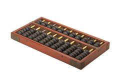 Old wooden chinese abacus Stock Photos