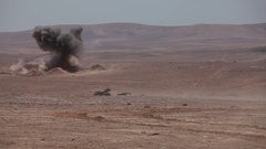 Battle tank shot. Stock Footage