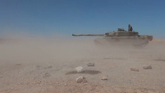 Battle tank shot. M1 Abrams Stock Footage