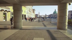 People Waling on the Streets in Venice. Venice travel. Venice Architecture Stock Footage
