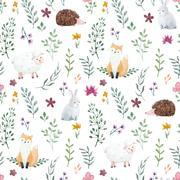 Watercolor pattern for children Stock Illustration
