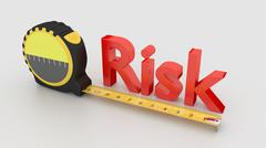 Risk measurement concept with tape isolated on white Stock Illustration