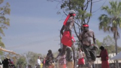Australian Aboriginal Dancing  Stock Footage