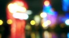 Defocused Casino Lights in Macau Stock Footage