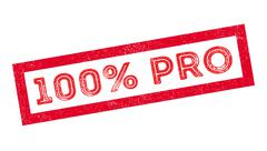 100 percent pro rubber stamp Stock Illustration