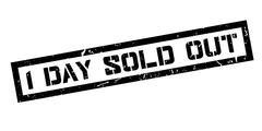 1 day sold out rubber stamp Stock Illustration