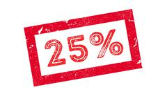 25 percent rubber stamp Stock Illustration