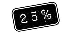 25 percent rubber stamp Stock Illustration