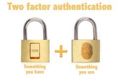 Two factor authentication padlocks concept are and have Stock Photos