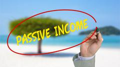Work from anywhere passive income concept Stock Photos