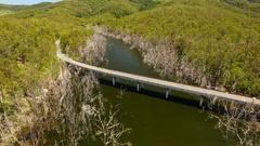 4K Aerial Of Tweed River And Bridge B Stock Footage