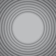 Vector Concentric Grey 10 Circle. Grey Background. Stock Illustration
