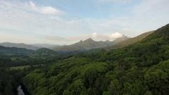 4K Aerial Tweed Valley Towards Mount Warning Stock Footage