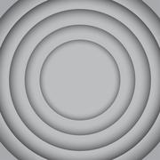 Vector Concentric Grey 6 Circle. Grey Background. Stock Illustration
