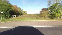 Right Side View Of A Driving Plate farming Suburban area Stock Footage
