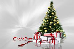 Christmas fir gift packs. Stock Illustration