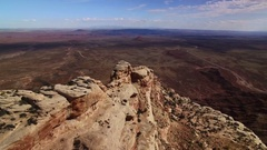 Canyon Road Aerial 08 Southwest USA 4K Stock Footage