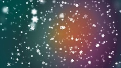 Broadcast Snow Flakes, Multi Color, Events, Loopable, 4K Stock Footage