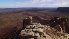 Canyon Road Aerial 07 Southwest USA 4K Stock Footage