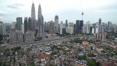 Aerial View Of Kuala Lumpur City. B-roll cinematic Stock Footage