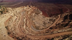 Canyon Road Aerial 10 Southwest USA 4K Stock Footage